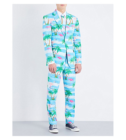 OPPOSUITS Flaminguy woven suit (Multi