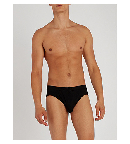 HANRO 海岛修身版型棉三角裤 (黑