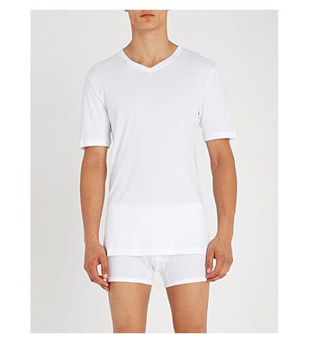 HANRO Island Sea Sea HANRO shirt Island jersey cotton T White B6BxrwqSI