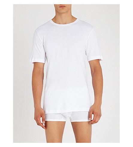 HANRO Sea Island cotton-jersey T-shirt (White