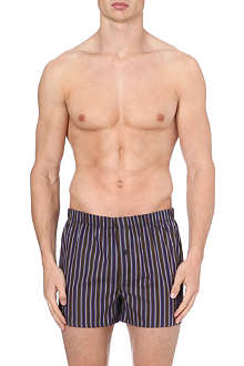 HANRO Striped woven-cotton boxers
