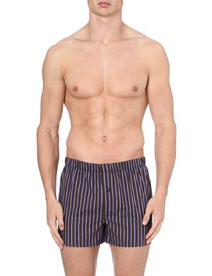 HANRO Striped woven-cotton boxers