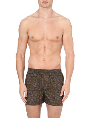 HANRO Floral-print woven-cotton boxers