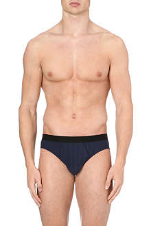 HANRO Striped stretch-cotton briefs