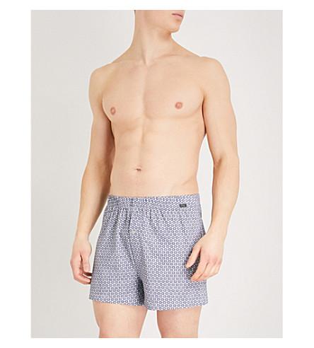 HANRO Elias regular-fit jersey boxer shorts (Blue+red
