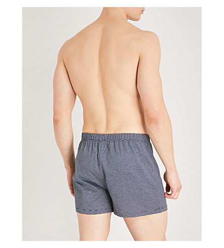 HANRO Sporty stripe boxers (Grey+mel