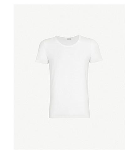 HANRO 棉高级棉混纺 T 恤 (白色