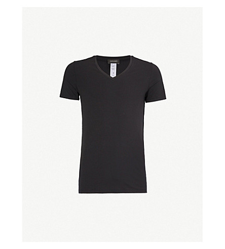 HANRO Cotton Superior cotton-blend T-shirt (Black