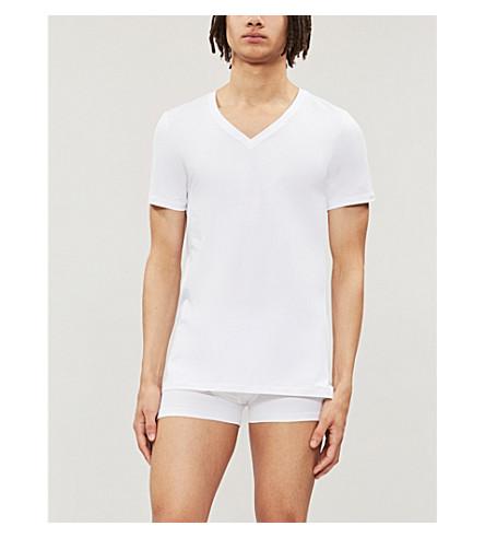 HANRO Superior v-neck t-shirt (White