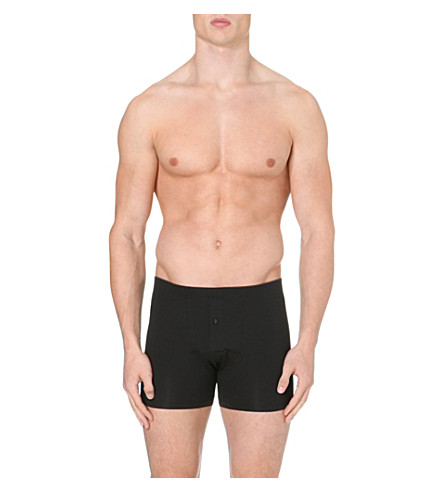HANRO Superior short-leg trunks (Black