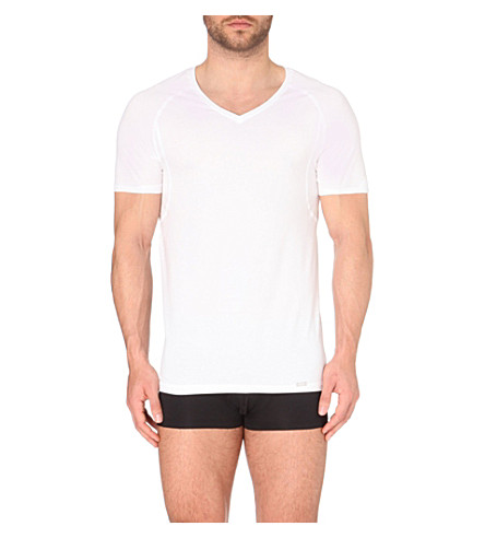 HANRO V-neck short-sleeved t-shirt (White