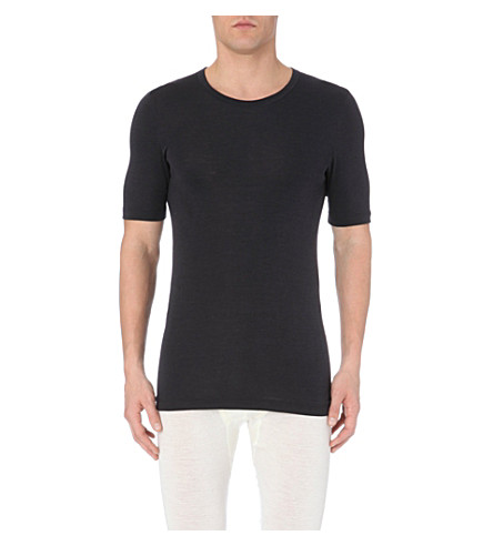 HANRO Hanro wool silk t-shirt (Anthracite