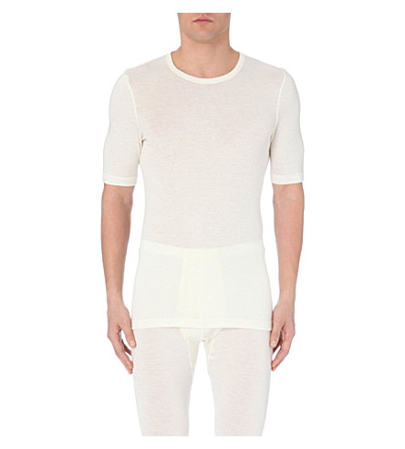 HANRO Hanro wool silk t-shirt (Natural
