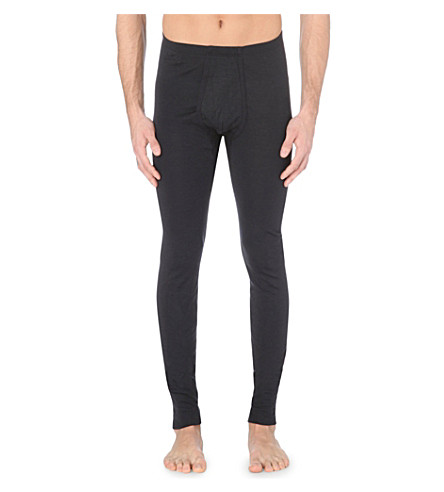 HANRO Wool and silk-blend leggings (Anthracite