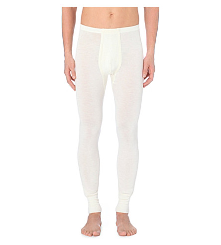 HANRO Hanro wool silk long leg underwear (Natural