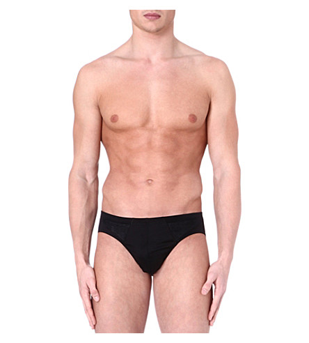 HANRO Sporty cotton briefs (Black