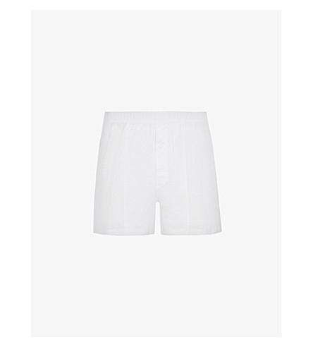HANRO 运动配合棉四角内裤 (白色