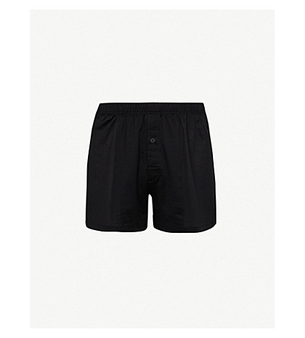 HANRO Sporty regular-fit cotton boxers (Black
