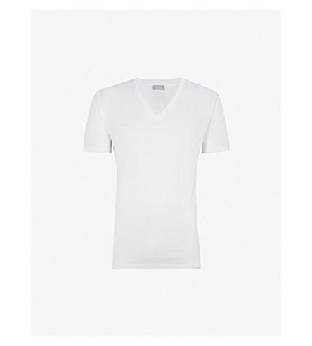 HANRO Cotton Sporty cotton-jersey T-shirt (White