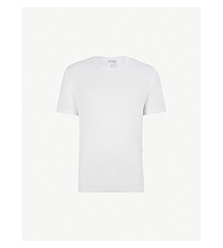 HANRO Cotton Sporty cotton-jersey T-shirt (White