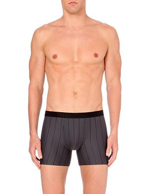 HANRO Striped stretch-cotton trunks