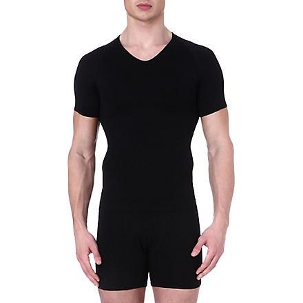 SPANX Zoned performance v–neck undershirt (Black