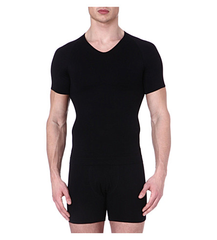 SPANX Zoned performance v–neck undershirt (Black