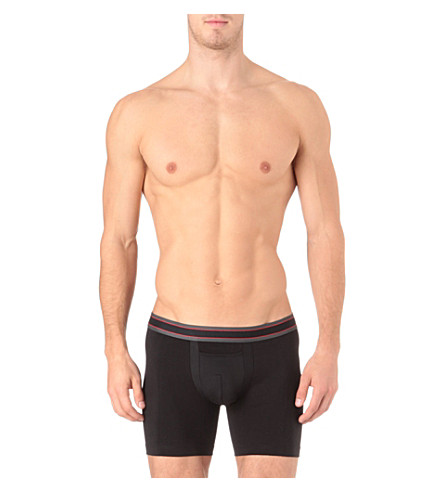 SPANX Cotton comfort boxer briefs (Black