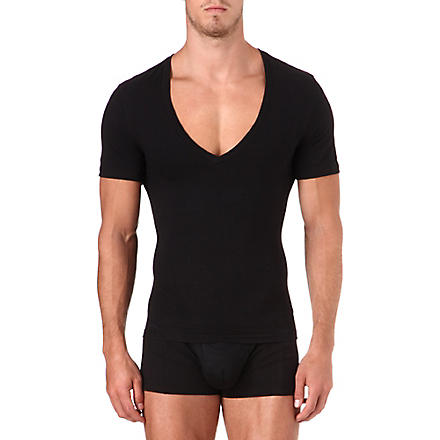 SPANX Deep v-neck t-shirt (Black