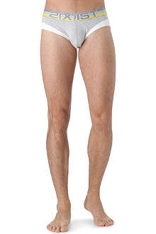 2(X)IST Sail Sculted striped brief