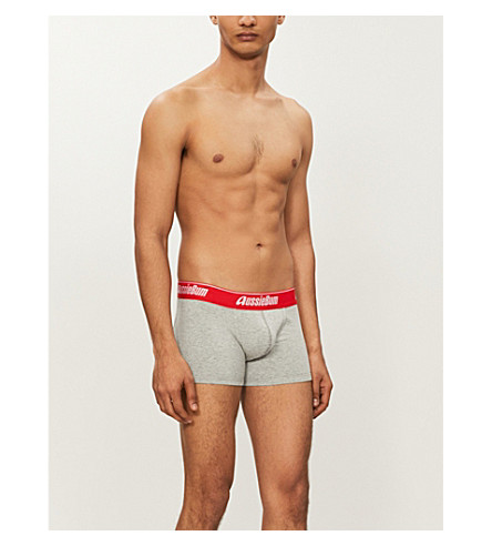 AUSSIEBUM CottonSoft jersey trunks (Inferno+grey