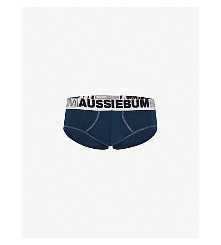 AUSSIEBUM EnlargeIT slim-fit stretch-cotton briefs (Navy
