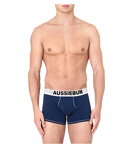 AUSSIEBUM Stretch-cotton trunks (Navy