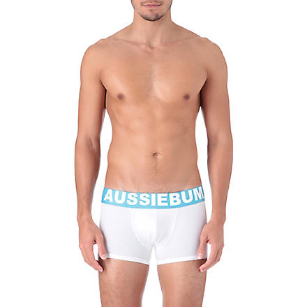 AUSSIEBUM Flame trunks (White/blue
