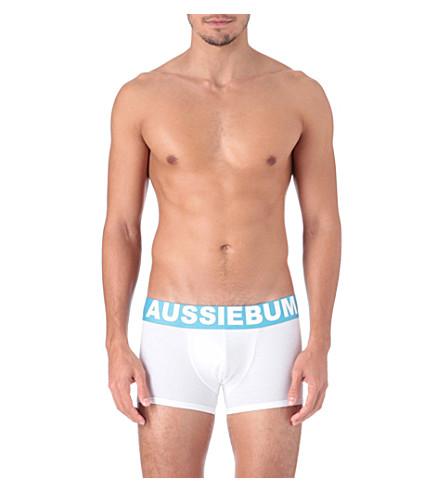 AUSSIEBUM Flame trunks (White/blue