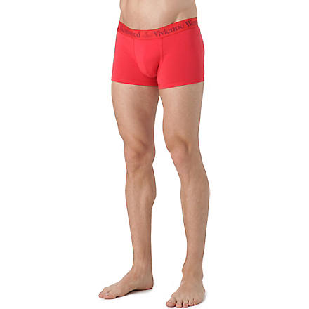 VIVIENNE WESTWOOD Tonal logo waistband trunks (Red