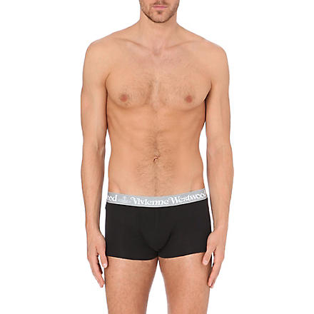 VIVIENNE WESTWOOD Logo-waistband trunks pack of two (Black