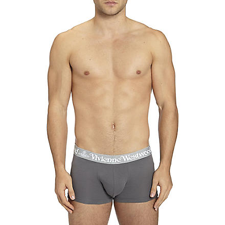VIVIENNE WESTWOOD Pack of two logo waistband trunks (Grey