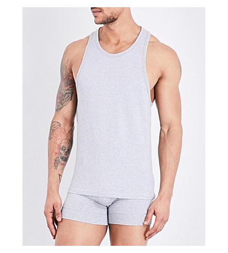DSQUARED2 Stretch-cotton vest (Grey+mel