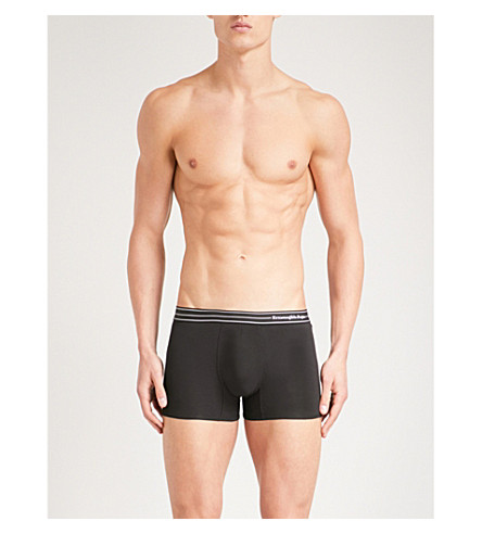ERMENEGILDO ZEGNA Core slim-fit stretch-cotton trunks (Black