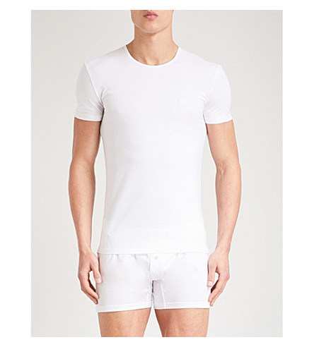 ERMENEGILDO ZEGNA Solid stretch-cotton pyjama top (White