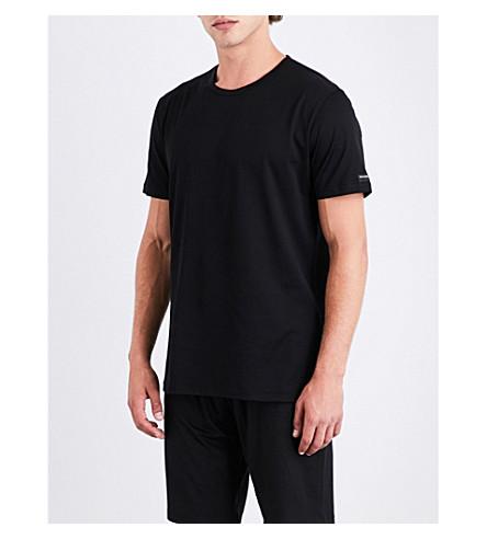 ERMENEGILDO ZEGNA Basic cotton-jersey T-shirt (Black