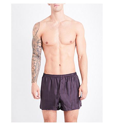 ERMENEGILDO ZEGNA Wanderlust geometric-print silk boxer shorts (Aub