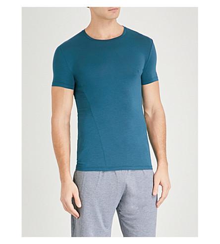 ERMENEGILDO ZEGNA Solid stretch-jersey pyjama top (Teal
