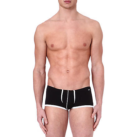 GROOVIN' Super extra low rise trunks (Black