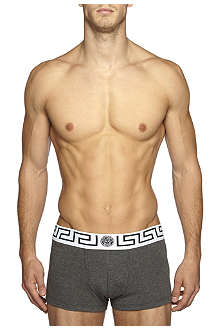 VERSACE White waistband low-rise trunks