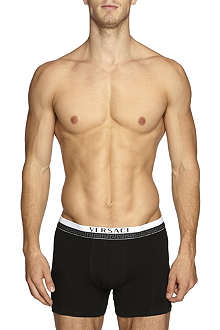 VERSACE Plain pack of two cotton trunks