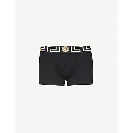 VERSACE Iconic low-rise trunks pack of two (Black/gold