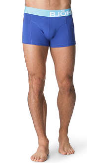 BJORN BORG Contrast-waistband side-logo trunks