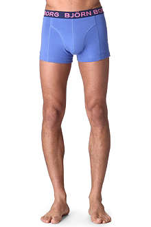 BJORN BORG Pack of two stretch-cotton trunks